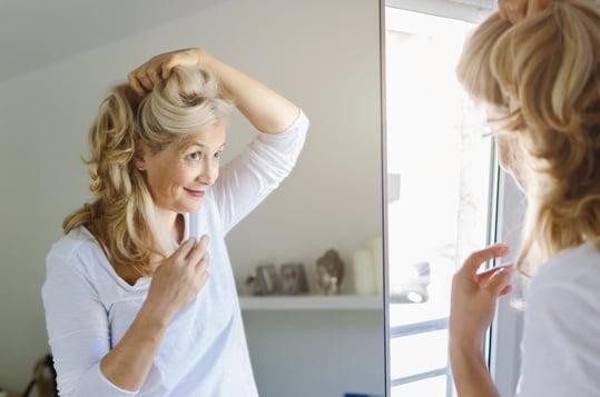 Cute Woman in Mirror resized